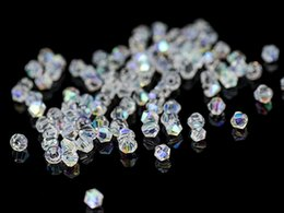 Wholesale 8mm Crystal Bicone - 300pcs AB Color Crystal Bicone Beads For Jewelry Making Decorative Glass DIY Beads Material Crystal Beads 4 6 8mm