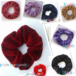 Wholesale Spring Hair Elastic Band - Women Velvet Hair Scrunchies Elastic Spring Hair Bands Ties Ponytail Holder Hair Accessories Women Girls Head Bands