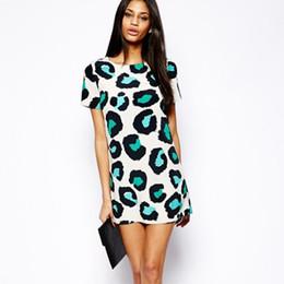 Wholesale Nice Women Dresses - Summer Nice Women Long Shirt Party Dresses Leopard Print Casual Short Mini Dress Vestido