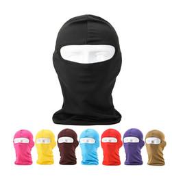 Wholesale Cycle Headwear - Wholesale- Wholesale 200pcs lot Outdoor Protection Full Face Lycra Balaclava Headwear Ski Neck Cycling Motorcycle Mask