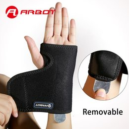 Wholesale Thumb Wrist - Arbot Training Sports Splint Wristband Thumb Support Weightlifting Wrist Protector Hand Brace Guards for Gym Outdoors
