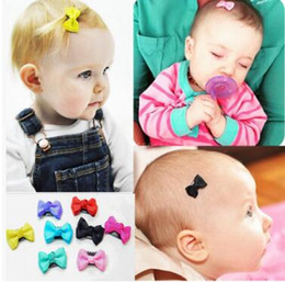 Wholesale Little Hair Clips - Bow Clip Fashion Cute Printed Flower Infant Baby Mini Small Bow Hair Clips Hairpins Little Hair Kids Girls Hair Accessories 291