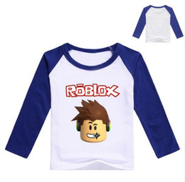 c767ab805 2017 Otoño Camiseta de Manga Larga Para Las Niñas Roblox Camisa Amarillo  Blusa Para Niños Camiseta de Algodón Camiseta Deportiva Roblox Traje Para  Bebé ...