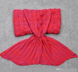 Wholesale Handmade Wool Blankets - Children Mermaid Blanket Imitation Cashmere Wool Blanket Leisure Sofa Sleeping Blankets In Winter To Keep Warm