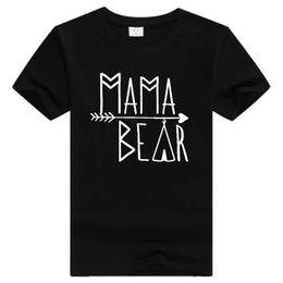 Wholesale Female Bears - Women Men T Shirt Mama Bear Short Sleeve T-Shirt Cotton Letter Print Tshirt Man Casual O Neck T Shirts Female Short Sleeve T