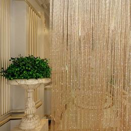 Wholesale Door String - Tassel Glitter Curtains String Champagne for Living Room Window Door Shower Curtain Divider Panels Screen Drape Decoration