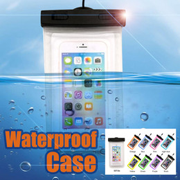 Wholesale Waterproof Iphone Case Brands - Outdoor Dry Bag Waterproof bag PVC Protective Phone Case Pouch With Compass Pouch For Diving Swimming Sports For iphone 7 plus S8 PLUS