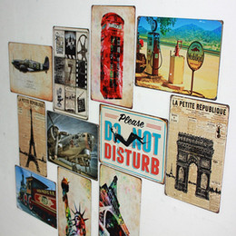 Wholesale x30cm coffee bar pub signs plaques for wall decor metal paining tin sign vintage poster