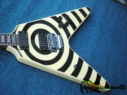Wholesale Fly Instruments - Newest Eye and Cream Flying V Electric Guitar High Quality Musical instruments HOT