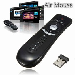 Wholesale Game Player 3d - Fly Air Mouse T2 Remote Control 2.4GHz Wireless 3D Gyro Motion Stick For 3D Sense Game Android TV Box Google TV Player