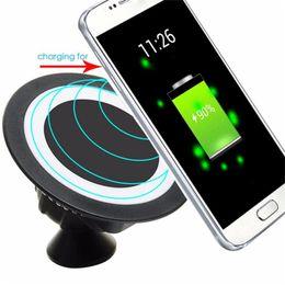 Cargador para coche inalámbrico qi online-Universal Qi Wireless Charger Dock 360 giratorio Mount Car Holder Pad de carga para el iPhone 8 Samsung Galaxy S7 S6 Edge con la caja al por menor