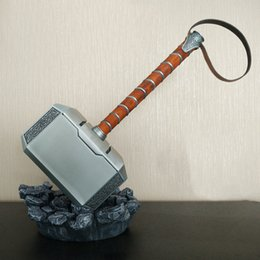 Wholesale Metal Scale Stand - Scale Full Metal Thor Hammer Mjolnir 1 1 Replica Thor Custom Cosplay Hammer Collection Model Toy (Not Include Stand Base)