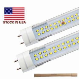 Wholesale Lights Lighting Led - Stock In US + 4ft led t8 tubes Light 18W 22W 25W 28W 1200mm Led Fluorescent Lamp Replace regular Tube AC 110-240V UL FCC