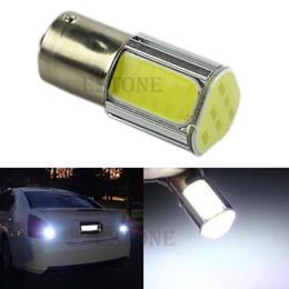 Wholesale G18 Light - Wholesale-Hot White 1156 G18 Ba15s 4 COB LED Turn Signal Rear Light Car Bulb Lamp 12V