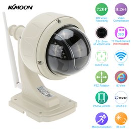Wholesale Dome Wireless Ptz Network Camera - KKMOON Wireless PTZ IP Camera Outdoor 720P HD 2.8-12mm 4X Zoom CCTV Security Video Network Surveillance IP Camera Wifi Dome Cam