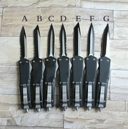 Wholesale Knife For Survival - microtech Troodon A07 7 models double action optional Hunting Folding Pocket Knife Survival Knife Xmas gift for men 1pcs freeshipping