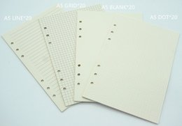 Wholesale Notebook Grid - Wholesale- Notebook A6 A5 Refill 80 sheets Inner paper pages Normal Paper Line Grid Blank Dot included