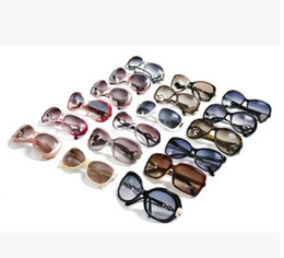Wholesale Big Round Frame Sunglasses - Free Shipping High Quality Women's Ladies Designer Sunglasses Tortoise Big Frame UV400 Sun Glasses mixed Colors Select