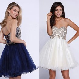 Wholesale One Sleeve Sweetheart Mini Dress - short cocktail prom dresses 2017 homecoming graduation dresses sweetheart neckline with appliqué and jewel accents detail the bodice