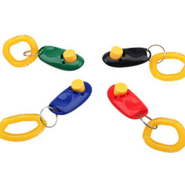 Wholesale Wrist Brand Wholesale - Brand New Pet Cheap Clicker Training Trainer Aid Wrist Dog Clicker Random Color
