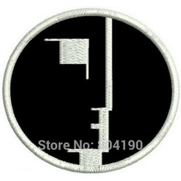 Wholesale Rocking Music - BAUHAUS ROCK POST PUNK GOTH SIOUXSIE THE BANSHEES Music Band EMBROIDERED IRON On Patch APPLIQUE Rock Punk Badge