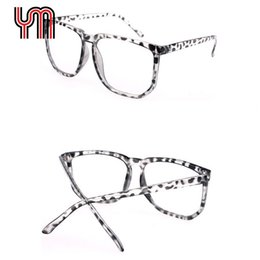 Wholesale Geek Frames - Wholesale- Hot Large Black Clear Lens Eyewear Big Square Optical Frame Nerd Eye Glasses Retro Nerd Geek Women Man Unisex Fashion 030-018