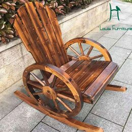 Wholesale Good Chairs - Wholesale- Moon chair wood arm chair good quality decorated handwork for outdoor furniture