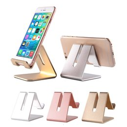 Wholesale Gold Watch Phone - Cell Phone Stand Universal Aluminum Metal Phone Holder For iPhone 6 7 Plus Samsung S8 Tablet Desk Phone Holder Stand For Smart Watch