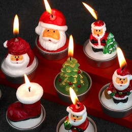 Wholesale Praying Candle - Christmas Candle Santa Claus For Hotel Decorations Holiday Party With For Christmas Decorations Devout Pray 3 Pieces Box