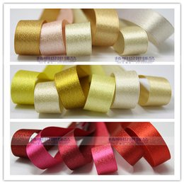 "Wholesale Pink 38mm Ribbon - 38mm(1.5"") Gold weft ribbon for hairbow Clips, Headbands, Floral and Gift Wrapping 5yd lot"