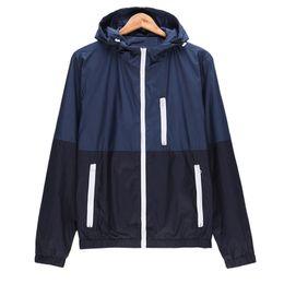 Wholesale White Windbreaker Wholesale - Wholesale- Mens Spring Running Thin Jacket Waterproof Windbreaker Light Weight Windproof Outdoor Sports Jacket with Front-Zip
