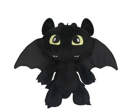 Wholesale Dragon Toothless Plush - 30cm Night Fury How to Train your Dragon 2 Toothless Soft Plush dolls Soft Stuffed Toy Christmas Gifts