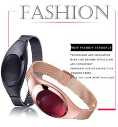 Wholesale Bluetooth Fashion Bracelet - Fashion Luxurious Z18 Smart Bracelet Female Smartwatches Z18 Blood Pressure Heart Rate Monitor Pedometer bluetooth wristband For IOS Android