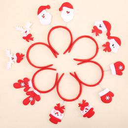 Wholesale Christmas Snowman Costume - Cute Christmas Headbands for Girls Women Christmas Party Costume Santa Claus Snowman Festival Hair Band Hair Accessories Gift