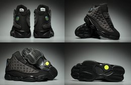 Wholesale High Altitude - 2017 With Box Retro Air 13 XIII Black Cat Altitude Mens Basketball Shoes A High Quality Size US 8 13 Wholesale Sneaker New Arrive