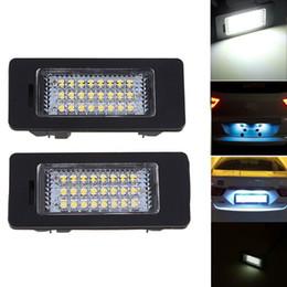 Wholesale Bmw Led License Plate Lighting - Error Free 3528 SMD LED License Number Plate Light Lamps For BMW 1 3 5 Series E39 E60 E61 E90 E91 E92 Car Part