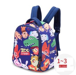 Wholesale Bag Zoo Children - Happy Zoo UEK brand Kindergarten Kids Backpacks Diving material light strong and suitable for 0-3 Years Boy Girl children school bag