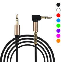 2019 tipos de conectores de altavoz Cable de audio auxiliar universal de 3.5 mm Cable AUX delgado y suave para auriculares, iPods, iPhones, iPads, equipos de música para el hogar