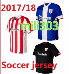 Wholesale Men S Athletic - Top thai quality 2017 2018 Athletic Bilbao jersey 17 18 Home away SUSAETA GURPEGUI MUNIAIN football jerseys shirt free shipping