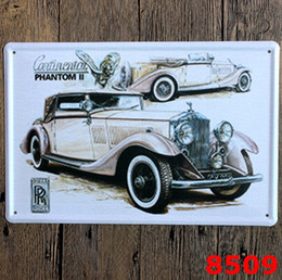 Wholesale Vintage Metal Cars - Metal Paintings 20*30cm Classic Garage Car with Poster Tin Sign Coffee Shop Bar Restaurant Wall Art Decoration Bar Vintage Room