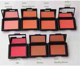 Wholesale Red Cheek Blush - Free Shipping Best Sell Wholesale Price New Makeup Blush Bronzer Baked Cheek Color Blusher Palettes 1Colors