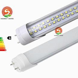 Wholesale Wholesale Stock Usa - Stock In USA + 4FT 28W LED tube lights SMD2835 G13 192LEDS Lamp Bulb 4 feet 1.2m Double row 85-265V led fluorescent lighting