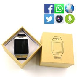 apro reloj inteligente Rebajas Original DZ09 APRO Reloj Bluetooth conectado Reloj de pulsera Reloj inteligente Reloj para Android iOS PK Q18 F69 Smartwatch Q18