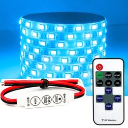 Wholesale Dimmer Bar - RF wireless Remote dimmer mini controller 75W for single color RGB Led strips 3528 5050 5730 5M flexible strip light bar dimming flashing