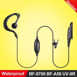 zweiwegmikrofon Rabatt Großhandels- Walkie-Talkie-Kopfhörer-Hörmuschel-Mikrofon für Baofeng BF-9700 BF-A58 UV-9R wasserdichtes Zweiwegradio