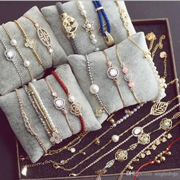 Wholesale Vintage Pearl Clasps Wholesale - New Fashion Hot Sale Jewelry Wholesale Pearl Infinity Charm Bracelet Anklet Vintage Accessories Lover Gifts Free Shipping