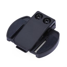 Wholesale Bt Motorbike - Wholesale- Headset V6 BT Bluetooth Motorcycle Motorbike Helmet Intercom Headset Bracket Clip Holder Convenient to Install Compact to Use