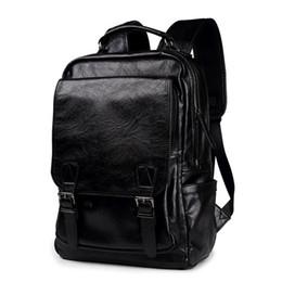 Nouvelle arrivée mâle sacs fonctionnels mode hommes voyage sac à dos en cuir PU sac à dos grande capacité hommes ordinateur portable sac d'école garçon loisirs sac à main ? partir de fabricateur