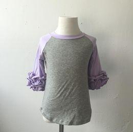 Wholesale Kids Designer Wholesale Clothes - New Cotton Toddler Baby Clothes Icing Raglan Shirt Fashion Baby Kids Girls Casual Designer Western Tops Shirt