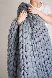 Wholesale White Knitted Throw - Chunky knit blanket, Chunky knit throw, Arm knitted blanket, chunky knit giant blanket, merino wool blanket